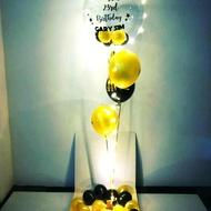 Surprise balloon gift box floating helium jumbo balloon box customisable message on balloon