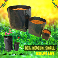 Big Medium Small Planters Nursery Seedling Bags Thick Gusset w/ Pre-punched 4 Holes Growers Biodegradable Pots Plants Plastic Paso Polybag All Sizes 3x3x6, 5x5x10, 6x6x11, 6x6x12, 6x6x14, 7x7x11, 7x7x14, 8x8x14, 8x8x16, 9x9x16, 9x9x18, 10x10x18, 10x10x20