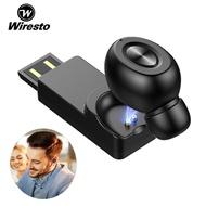 Wiresto หูฟังเอียบัด หูฟังบลูทูธ หูฟังไร้สาย ฟังได้นาน สามารถใช้งาน หูฟังบลูทูธ,หูฟังหูฟังขนาดเล็กหูฟังหูฟังสำหรับสมาร์ทโฟน Single Wireless Earbud Mini Bluetooth Earphone