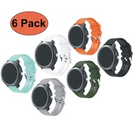 6 Pack Garmin Vivoactive 3 Straps, Soft Silicone Replacement Fitness Bands Wristbands with Metal Clasps for Garmin Vivoactive 3 /Vivomove Smart Watch