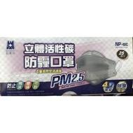 【捷安商行現貨賣場】藍鷹 立體 口罩 活性碳口罩 大人 NP-4DC 防霧霾