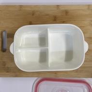 🍳🍝🍚🍤🍲分隔陶瓷便當盒保鮮盒🎉🎉🎉三格