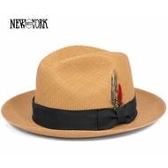 美國 NEW YORK HAT - PANAMA FEDORA 頂級手工巴拿馬草帽 - PUTTY 竹子色