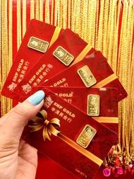 ทองคำแท่ง 1 สลึง ทอง 96.5% น้ำหนัก 3.80 กรัม ทองคำแท้มาตรฐานจากเยาวราช