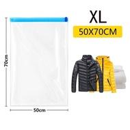 XLWHCBYถุงบีบอัดเสื้อผ้า1ชิ้น,ถุงเก็บเสื้อผ้าแบบใช้มือรีดถุงพลาสติกสูญญากาศบรรจุกระสอบถุงประหยัดพื้นที่สำหรับเดินทางสำหรับดึง
