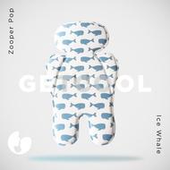 【Zooper】Pop 有機棉冰絲涼感墊-冰海鯨