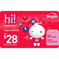 SINGTEL SuperHot$128 eTop-Up - 24 Hours Instant Delivery!