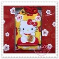 ♥小花花日本精品♥ Hello Kitty 招財御守 坐姿 黃色 台灣製icash 2.0(非悠遊卡) 57028804