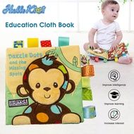 Hellokimi Baby Cloth Book Toys Early Learning Books Soft Fabric Books  Colorful Picture Animal Books Intelligence Development Educational Toy Soft Cloth Learning Books For 0-3 Years Old Kids baby toys