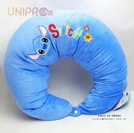 【UNIPRO】迪士尼 史迪奇 STITCH 月亮枕 哺乳枕 紓壓靠墊 男朋友抱枕 側睡枕頭 孕婦哺乳寶寶 迪士尼正版
