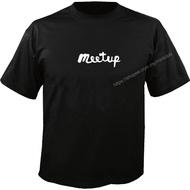 MEETUP Logo定制T恤T恤黑色(S-3XL)