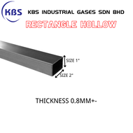 "MILD STEEL (BESI) SQUARE HOLLOW (TEBAL 0.8MM+- ) (SIZE 1"" X 2"")"
