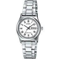 Casio นาฬิกาข้อมือผู้หญิง สายสแตนเลส รุ่น LTP-V006 ของแท้ประกันศูนย์
