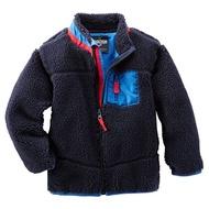 Carter's/OshKosh 外套 連帽長袖 飽暖絨毛 刷毛 深藍色 6M 9M 12M 18M 24M【優迪嚴選】