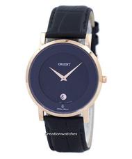 Orient Analog Quartz Women's Black Leather Strap Watch SGW0100BB0