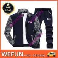 【WEFUN】DAIWA釣魚服套裝柔軟親膚兩件套戶外休閒運動外套套裝長袖外套