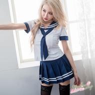 大尺碼性感水手服角色扮演服 海軍領水手制服cosplay服裝 流行E線