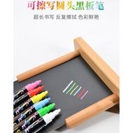 【2件8折】6色盒裝 可讀寫POP水性黑板筆圓頭水溶性馬克筆螢光板筆無塵粉筆記號筆水彩筆劃筆液體 粉筆 螢光筆