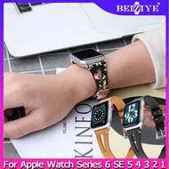 Hot Sell Flowers Leather Strap For Apple Watch 3 2 1 Band 38mm 40mm Replace Bracelet Watchband for Apple strap Series 6 SE 5 4 42mm 44mm
