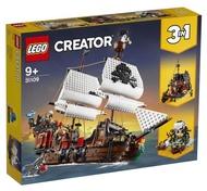 LEGO 樂高 31109 創意百變系列 3 合 1 海盜船 海盜 模型