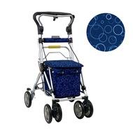 【Rollker羅克】步行輔助車 老人散步車 銀髮族 購物車 購物助行車 日本購物車(NO.335-泡泡藍)