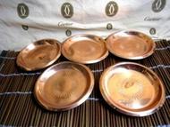 日本帶回5入純銅茶托