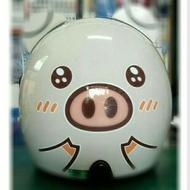 (附防水鏡片)小米豬🐷安全帽