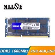 MLLSE 2GB 4 GB 8 GB 16 GB DDR3 1600 MHz PC3 12800 SO DIMM 2GB DDR3L หน่วยความจำ 12800 memoria 2G แล็ปท็อป PC3L RAM 4G 1600 MHz โน้ตบุ๊ค 8G