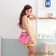 【Dennibella 丹妮貝拉】真皮斜背貝殼包-桃紅(4D1716009025)
