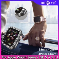 Diamond Protective Case For Apple Watch Cover Series 6 SE 5 4 3 2 1 Cases For Apple Watch 38mm 40mm 42mm 44mm watch band strap Bumper