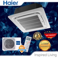 [KLANG VALLEY] Haier 2.0HP-3.0HP Ceiling Cassette Non Inverter Type Air Conditioner (R410A) 1U-FH2QAA [Comes With Professional AC Specialist Installation] AIRCOND