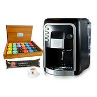 Coffee Italy เครื่องทำกาแฟ รุ่น HAUSBRANDT + แคปซูลกาแฟ 1 แพ็ค (10 แคปซูล) + แก้วกาแฟ 1 ชุด + กล่องไม้สำหรับใส่กาแฟแคปซูล 1 ใบ