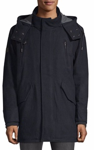 Superdry Mens  Classic Hooded Wool-Blend Parka