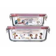 ◎♀✟Authentic Corelle Brands Pyrex Peanuts Snoopy Snapware Glass Food Storage Microwaveable Lunch Box