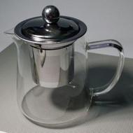 不鏽鋼濾網玻璃花茶壺 泡茶壺(250元)