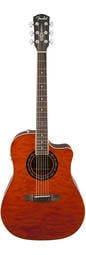 Fender T-Bucket 300CE民謠電箱木吉他,舊版琥珀色,楓木琴頸,玫瑰木指板,Fishman漁夫拾音器