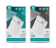 LESLIE LJ001 POWER BANK WITH BATTERY INDICATOR 10000MAH 6 MONTH WARRANTY
