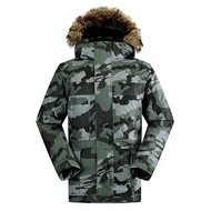 【The North Face】男 HV 550 fill 羽絨外套M褐灰綠迷彩