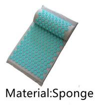 Spike Mat Acupressure Mat Linen Coconut Palm Massage Yoga Mat Sport Pillow Mat With Bag Lotus Spike Acupressure Mat Cushion