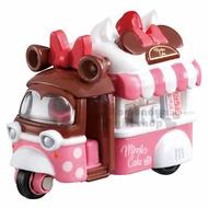 〔小禮堂〕迪士尼 米妮 TOMICA小汽車《粉白.餐車》