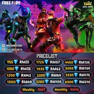 Free Fire | TOP UP Free Fire Diamond | Recharge Free Fire Diamond | TOPUP Free Fire  | TOPUP Cheapest Cheap Free Fire