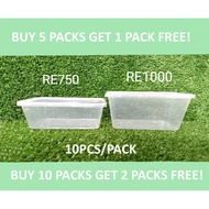 Pinoy Pack Microwavable Tub RE750/ 750ML , / RE1000/ 1000ML