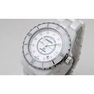 全新真品 CHANEL J12 H1629 12顆 點鑽 38mm 白色 陶瓷 自動 機械 腕錶