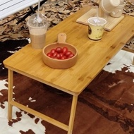 【May Shop】原木色摺疊木桌 電腦桌 露營桌(不附收納袋)