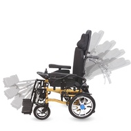 電動輪椅車全躺老人代步車輪椅電動車殘疾人代步車四輪智能折疊