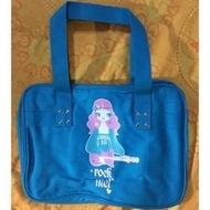Anna Sui全新藍色搖滾甜心旅行袋手提袋肩背包托特包