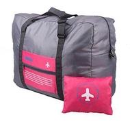 Purify กระเป๋าสำหรับเดินทางแบบพับได้ สามารถล็อคกับกระเป๋าเดินทางได้ (ขนาดความจุ 32ลิตร สีชมพู)