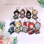 Anime My Hero Academia Boku No Hero Academia Keyring PVC Single Side Keychain