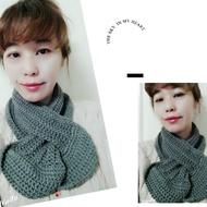 純手織短圍巾