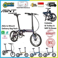 [SG READY STOCK] Latest! Mint Parts Bike 16inch T3 T9 Foldable Bicycle Folding Bike Oil Slick Rainbow Electroplating